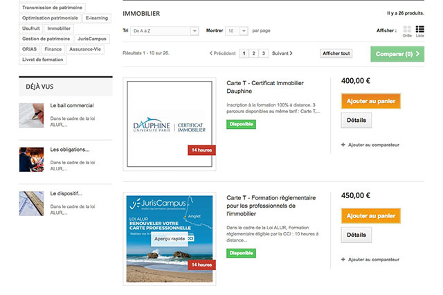 Site prestashop Juriscampus