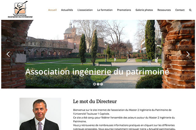 Refonte du site association ingenierie du patrimoine