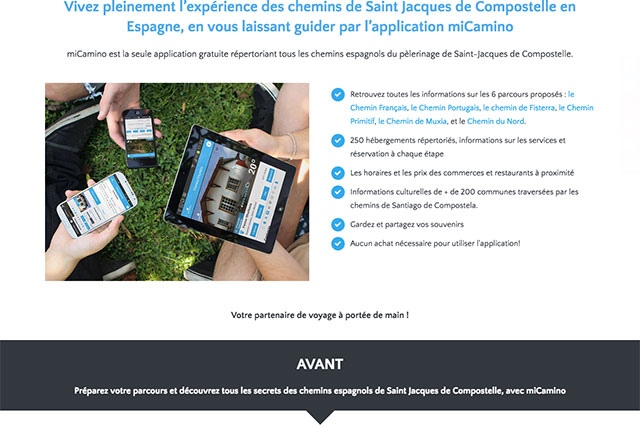Site promotionnel de l'application Micamino